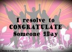 Resolve to congratulate someone today.