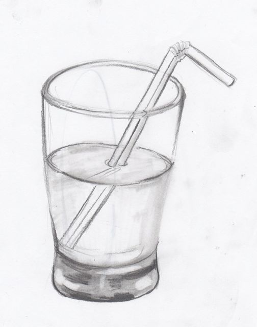 Free Drawing A Glass Of Water Coloring Pages