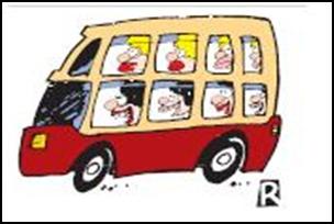 Piada, as loiras no ônibus.