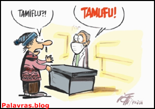 Tamiflu, Remédio para gripe A, charge