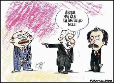 Lula, Mercadante e Sarney, Charge
