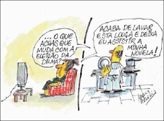 Variedades em Palavras,Dilma Presidente. O que muda em nossa vida? Charge?- Charge