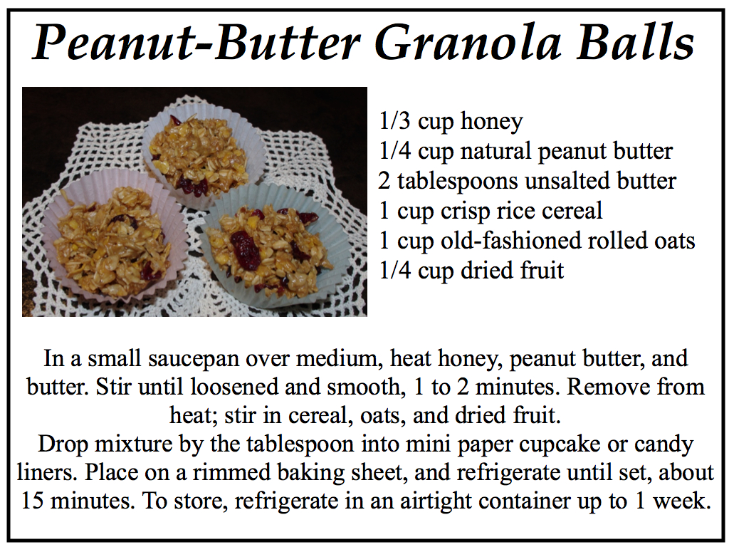 "Creative ""Try""als: Peanut-Butter Granola Balls Recipe"