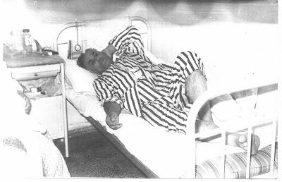 Kazadan sonra hastanede