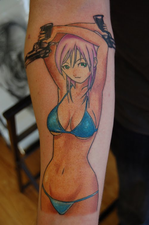 tattoo anime. anime toys tattoo