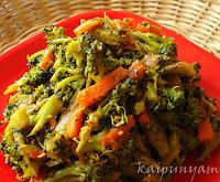 Broccoli Carrot Mezhukkupuratti