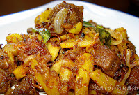 Koorka Irachi(Chinese potato & Beef ) Piralan