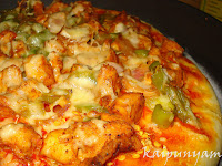 Chilly Chicken Pizza