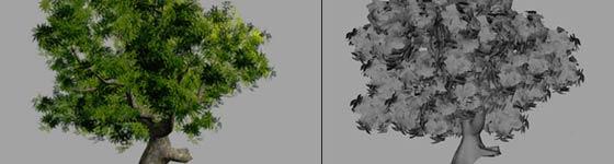Realistic leaf texture - Maya