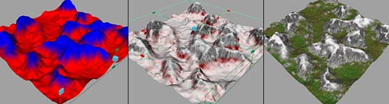 Texturing a terrain - Maya