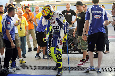 It's just 6 weeks after his crash, and he managed to get permission ...
