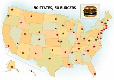 click for Food Network's 50 Burger page