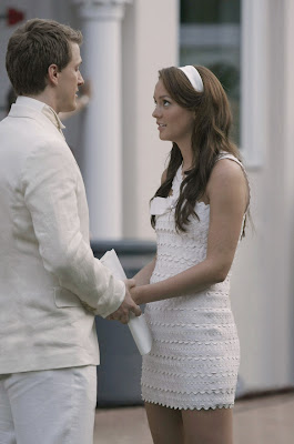Leighton Meester, Blair, Chuck, Ed Westwick Gossip Girl fashion, Season 2, S02E01, white party