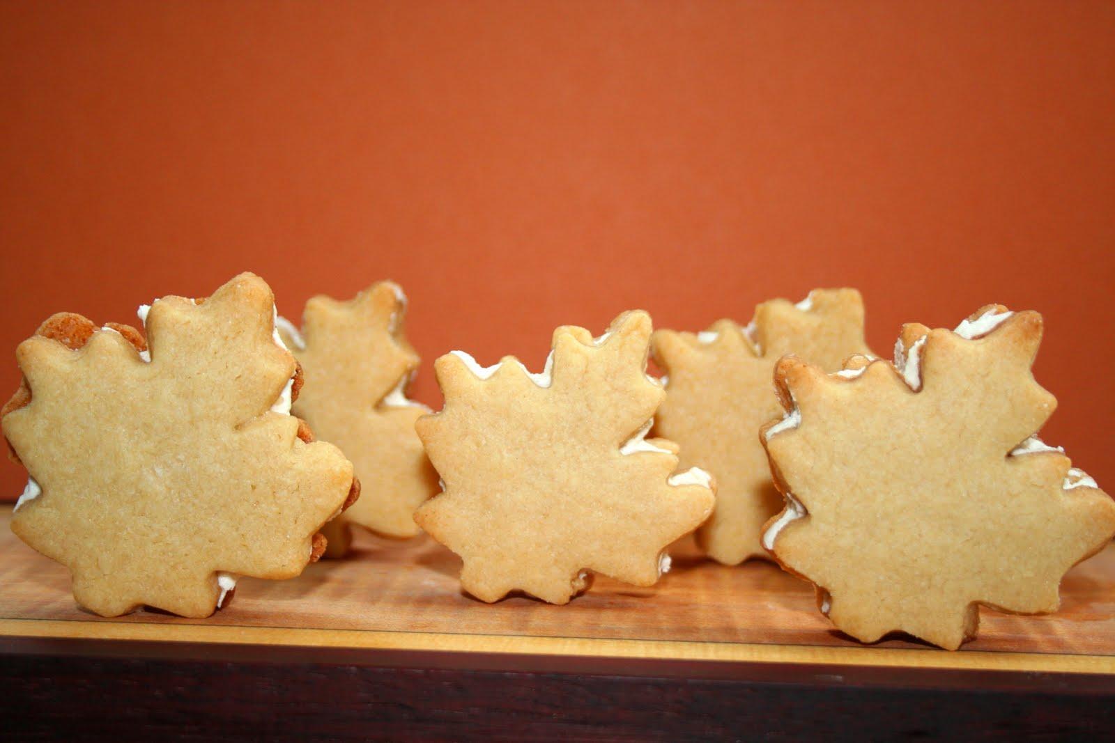 Maple leaf cream cookies recipe