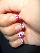 Uñas de lunares: flamenca pink uã±as de flamenca flamenco nails
