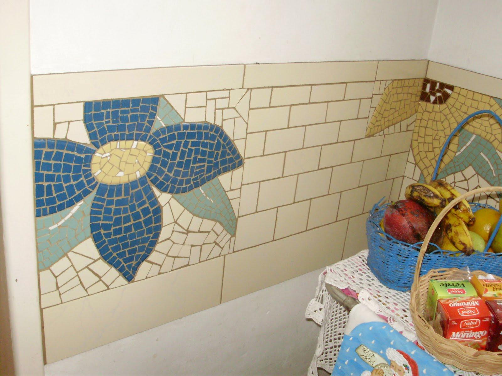 Mosaico arte constru o pano de parede para canto de for Mosaicos para paredes interiores