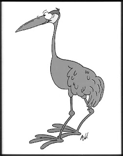 [Ward cartoon Sandhill Crane]