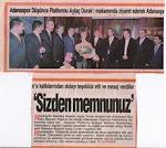 Düşünce platformundan Belediye başkanı Aytaç duraka ziyaret.