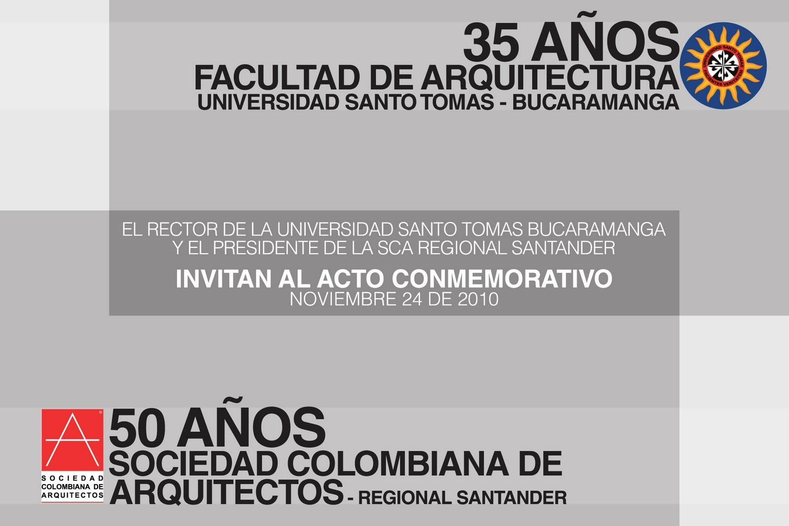 Universidad santo tomas facultad de arquitectura - Sociedad de arquitectos ...