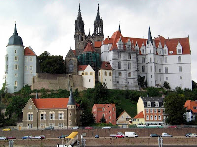 Albrechtsburg, Meissen, Sachsen. A cidade medieval