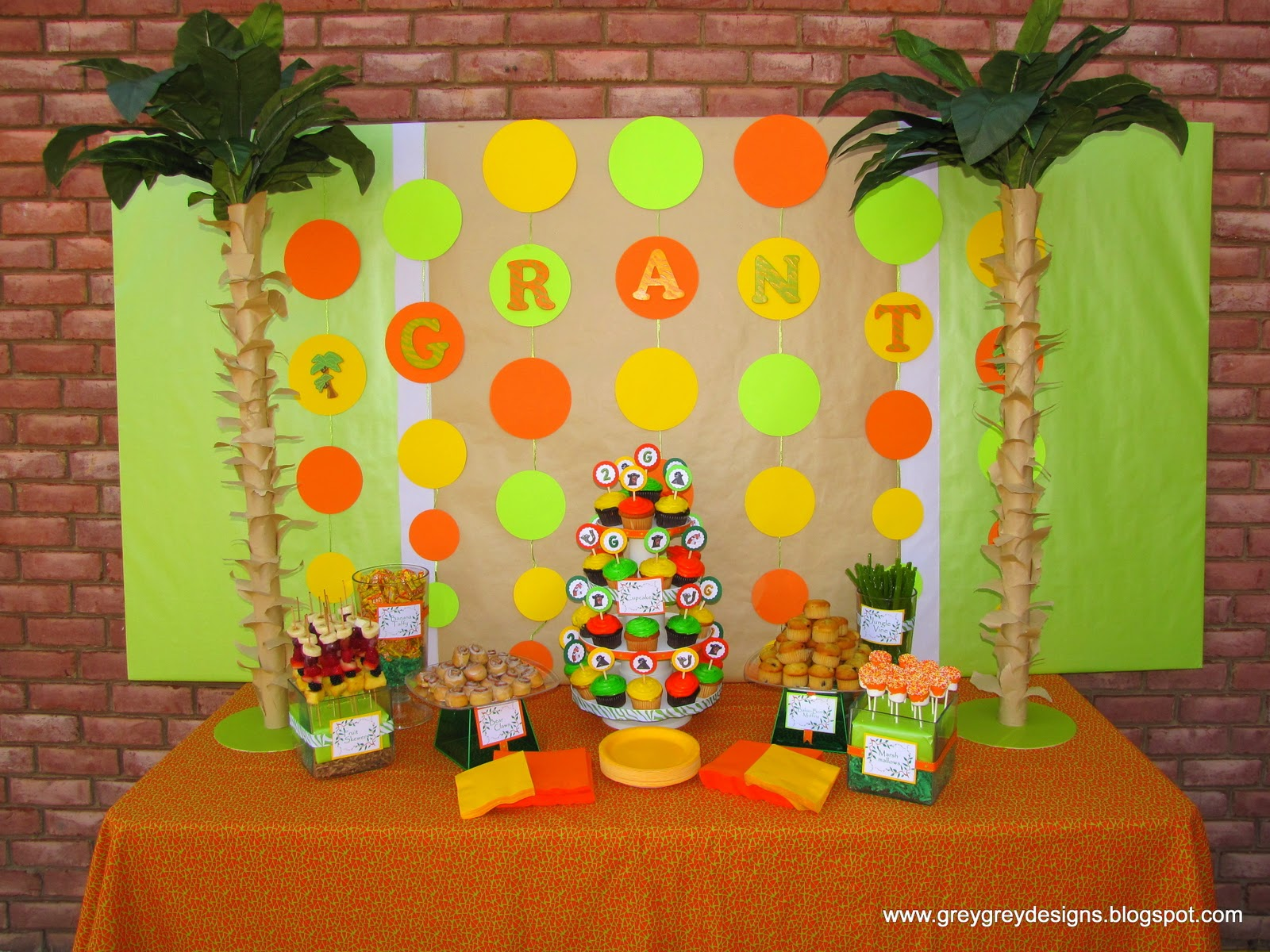 GreyGrey Designs: {My Parties} Grant\'s Jungle Book 2nd Birthday Party
