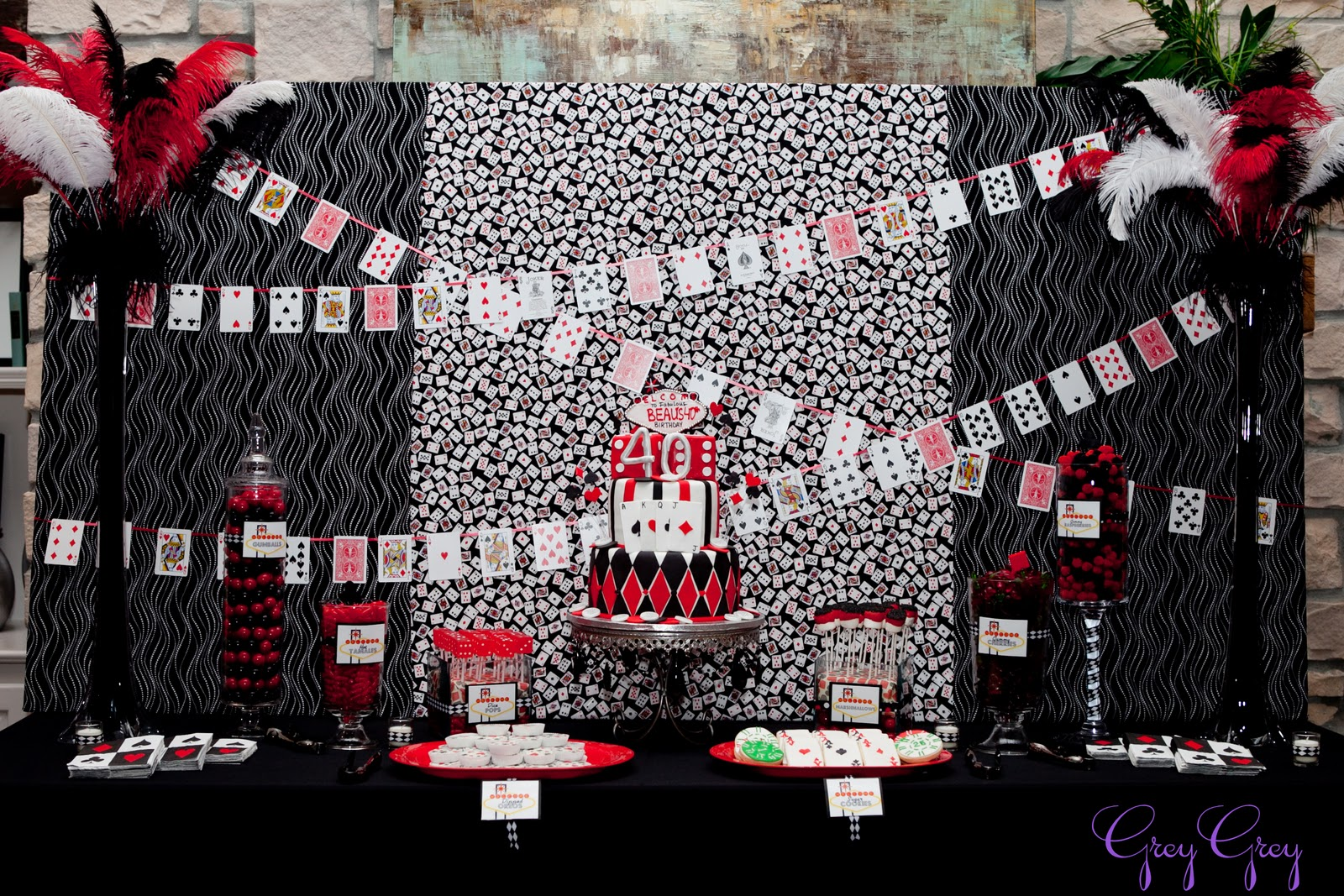 Casino night birthday party supplies