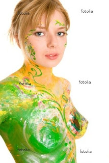 very hot body painting girls football