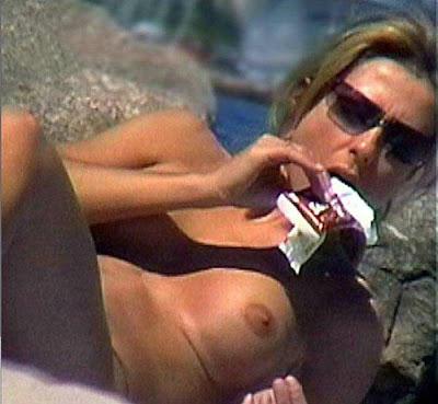candid topless beach