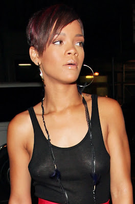 Rihanna Show Off Tits in See Through Top, I Can See ...
