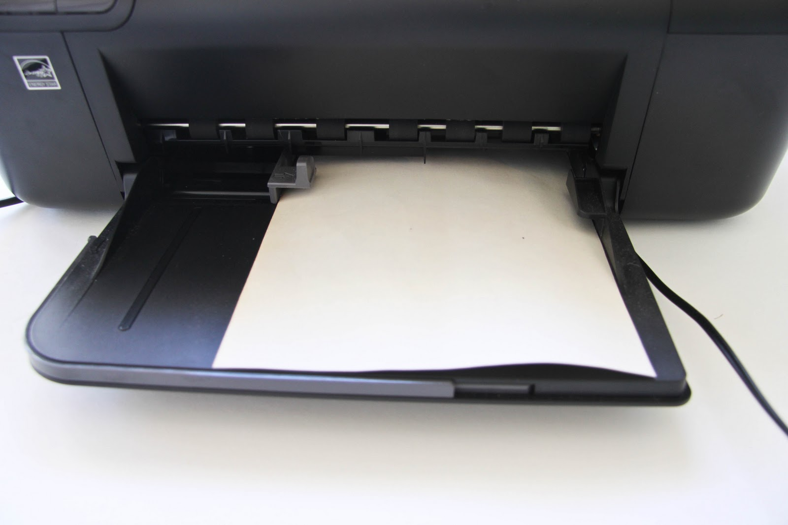 the image on plain printer paper feed the old book paper into your ...