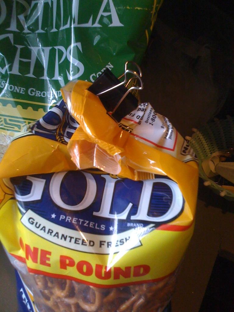 Image result for bag of stale pretzels