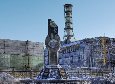 Los tres superhéroes de Chernóbil Chernobyl_monumento