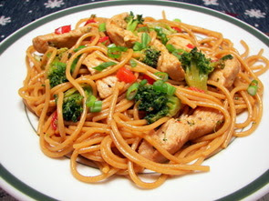 Teriyaki Pork and Vegetables with Whole Wheat Noodles