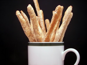 Asiago-Black Pepper Breadsticks