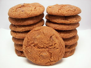 Milk Chocolate Gingersnap Cookies