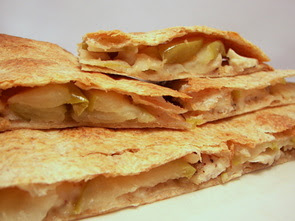 Muenster, Turkey and Apple Quesadillas