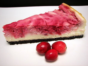 Swirled Cranberry Cheesecake