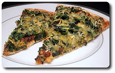 Culinary in the Desert: Mexican Black Bean and Spinach Pizza
