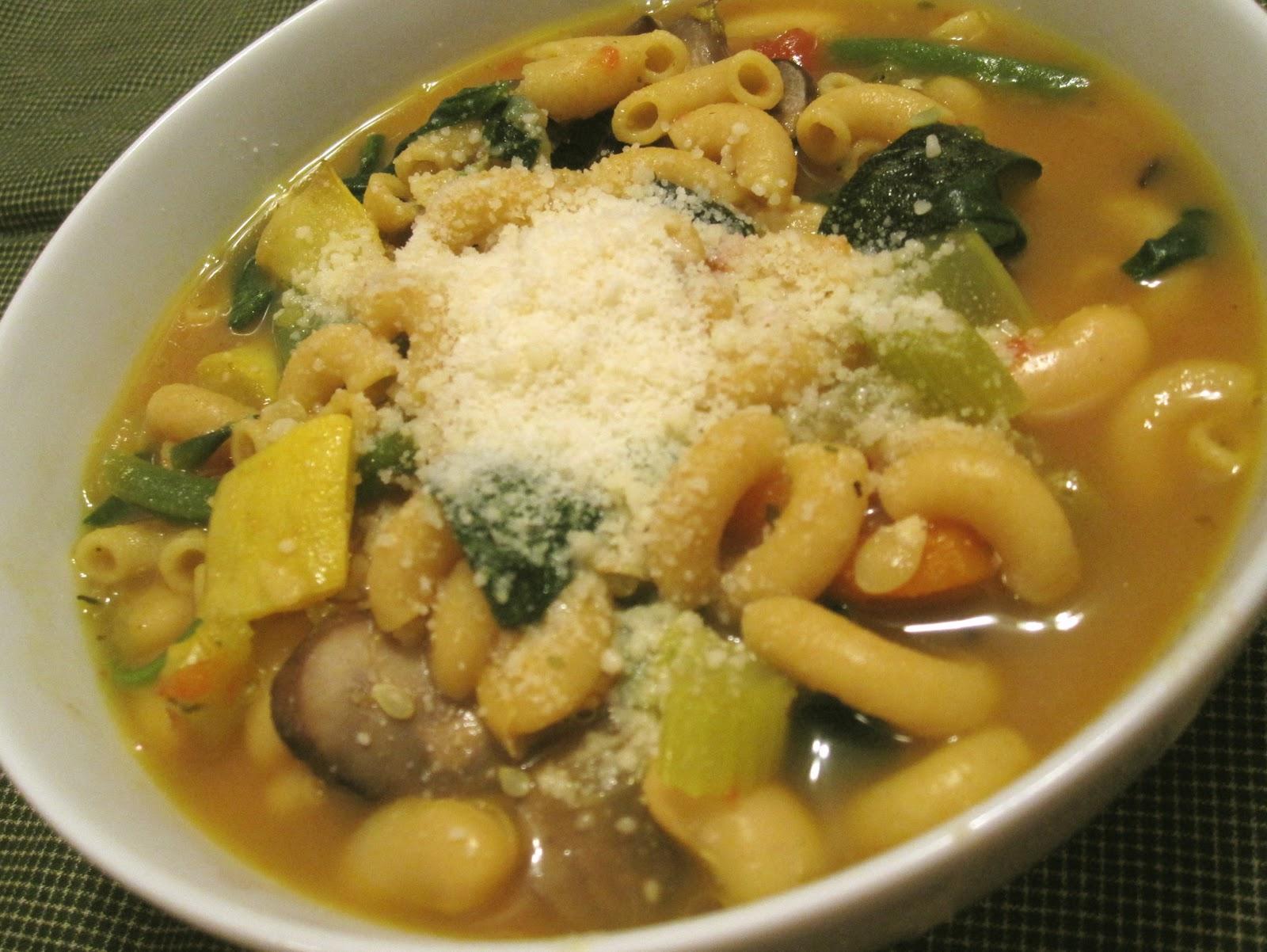 tasty tuesday ~ roasted vegetable minestrone