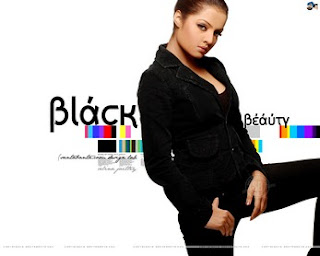 Celina Jaitley in Black