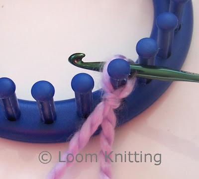 Loom Knitting Crochet Cast On