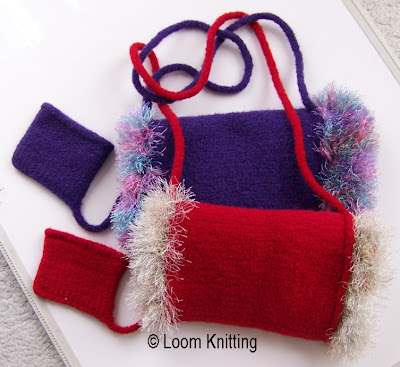 Loom Knitting Felted Muff Pattern