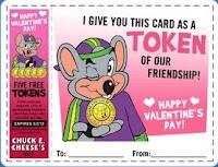 Chuck E Cheese Valentine