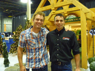 North Shore Eavestroughing at the Home Show with Jay Purvis of the HGTV show The Fix