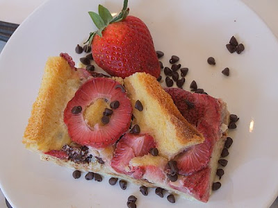 The Recipe Girl: Strawberry- Chocolate Chip Bread Pudding