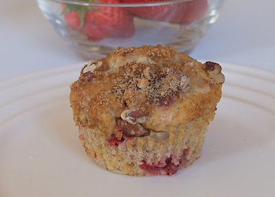 The Recipe Girl: Glazed Strawberry- Lemon Streusel Muffins