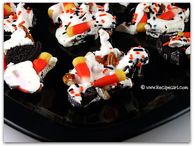 Candy Corn Cookie Bark