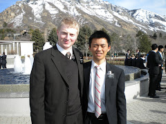 Elder Nelson and a native Japanese Elder at the MTC