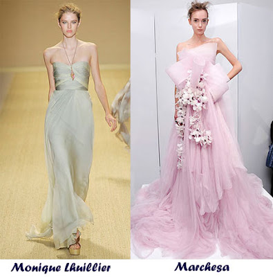pictures of wedding dresses with color. spring wedding dress will