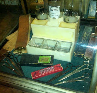 vintage barber shop supplies